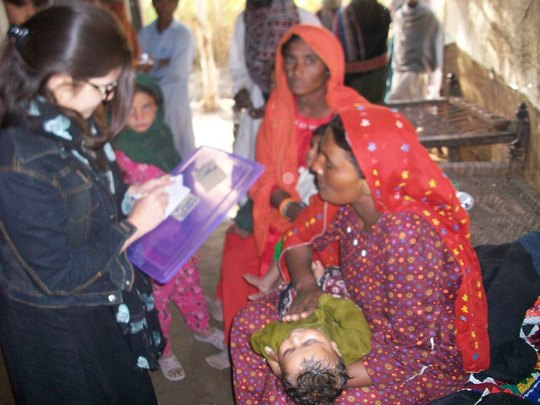 Child given ORS and treatment by Medical team