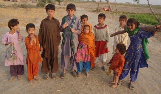 Cold winter for children, needs warm cloths