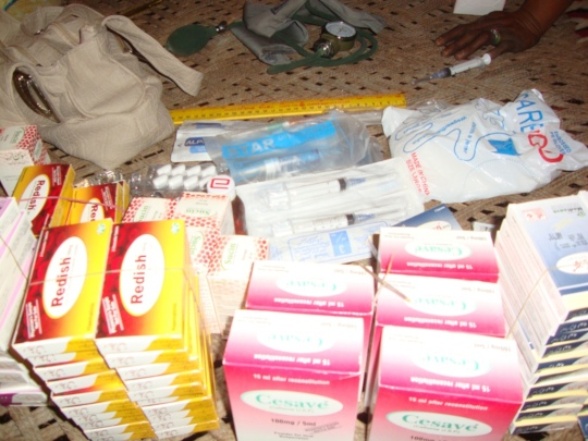 Medicine for flood victims