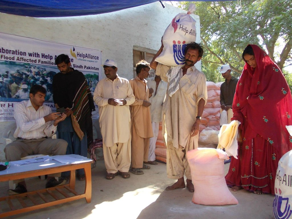 Food items distributed among poor families