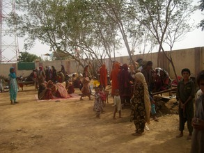 IDPs in Govt. primary school no proper shleter