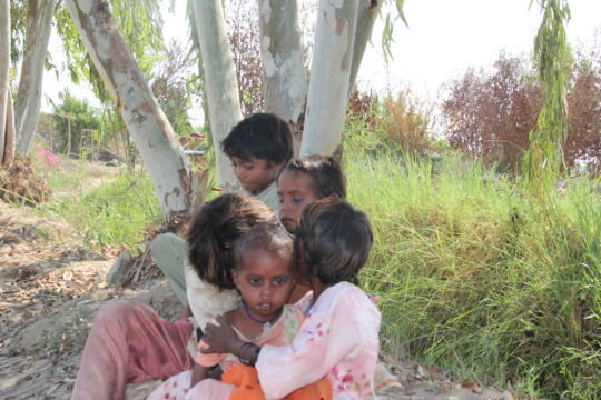 children residing without shelter