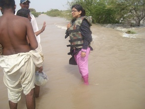 Ms. Sajida Chana, women coordinator during resuce