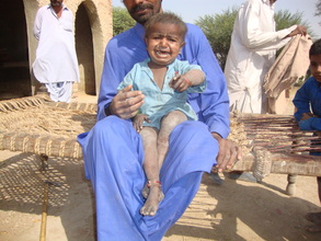 Poor health of child in new villages needs medicin