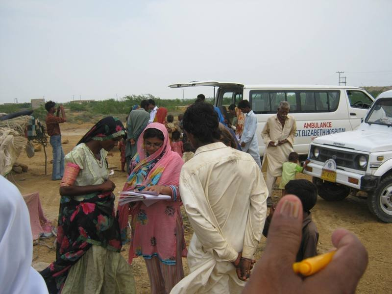 Registration of IDPs patinets in camp