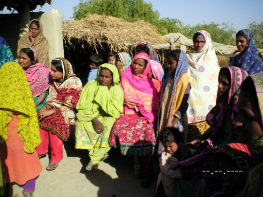 women affected by floods in 2015
