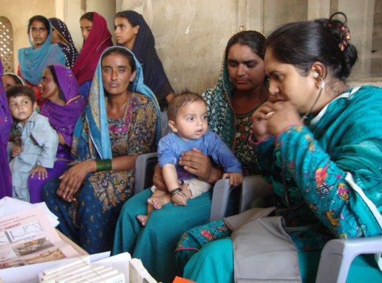 women looking medical help
