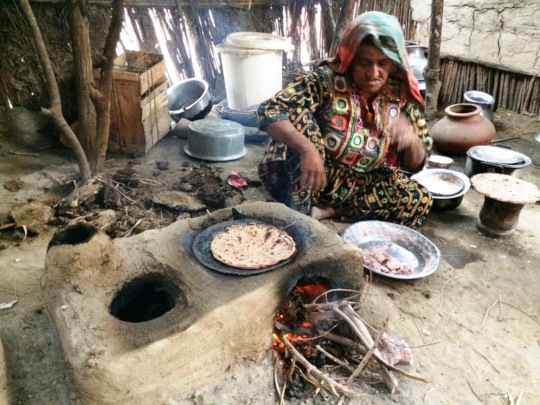 Women cooking food for family