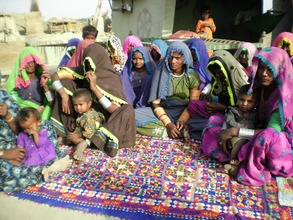 Women looking medical aid