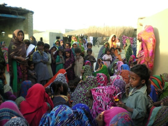 Women sharing their food shortage issues