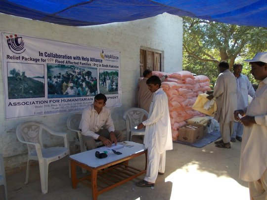 Food for 473 families affected during floods 2012
