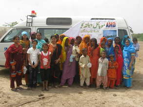 AHD Mobile Clinic for the flood vicitms treatment