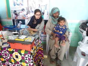 Dr. Sarah during patients treatment