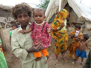 Children & women affected during rain or floods