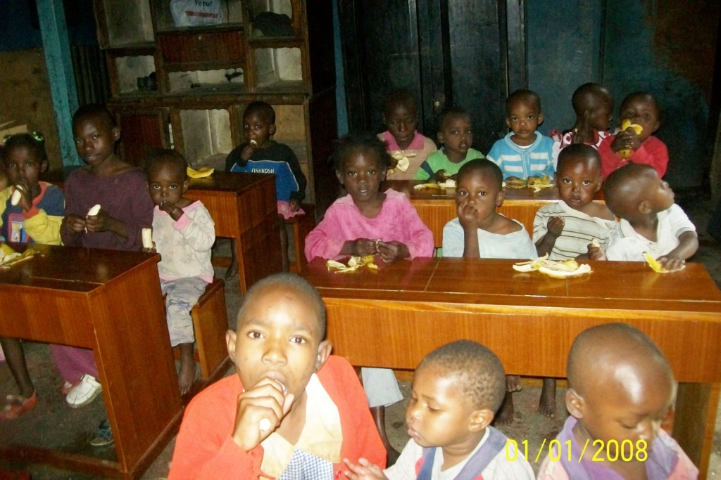 Orphans in their dormitory