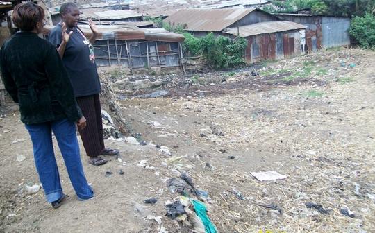 Director Mercy Thuo overlooks Mathare Slum GSCH