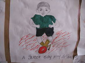 Street Boy Playing Football