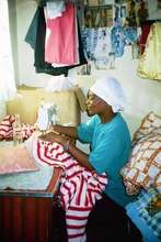 Fungai Demonstrates Home-Based Sewing Business