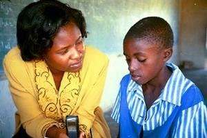 Teacher with GCN Girlchild in Zimbabwe