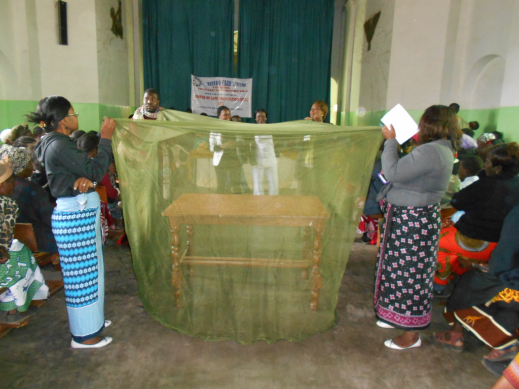 Demo on malaria prevention and proper use of net