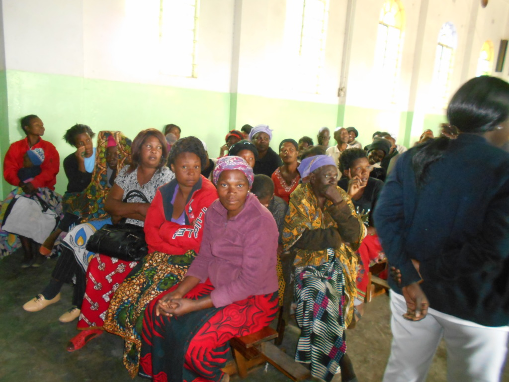 Women listening to educational sessions