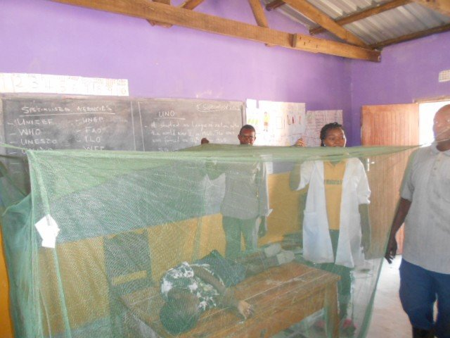 Education malaria prevention and demo on nets use
