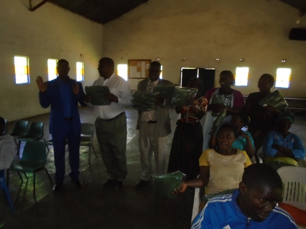 Nets provided to a Church in Lusaka, Zambia