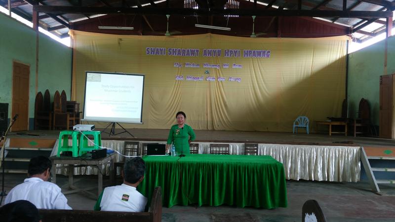presentation at Tatkon 10th mile Myintkyina