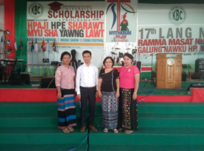 With Director of youth (Kachin Baptist Convention)