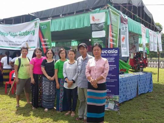 Thabyay booth in Education Fair