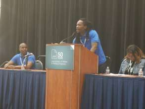 Terrell shares his story with AWP conference-goers