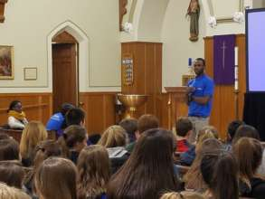Hosea speaks to teenagers in Massachusetts