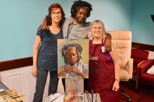FM member Michael with artists Donna & Cindy