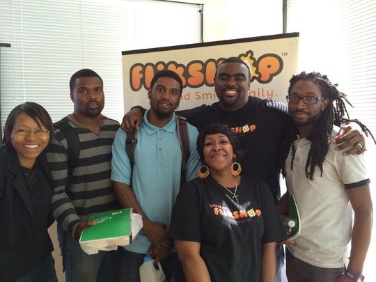 FM members with Flikshop founder Marcus Bullock