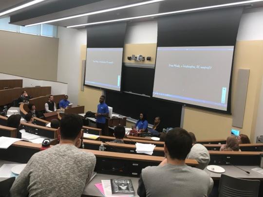 Poet Ambassadors speaking at Columbia Law School