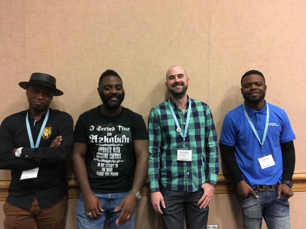 James with the AWP panelists in Florida