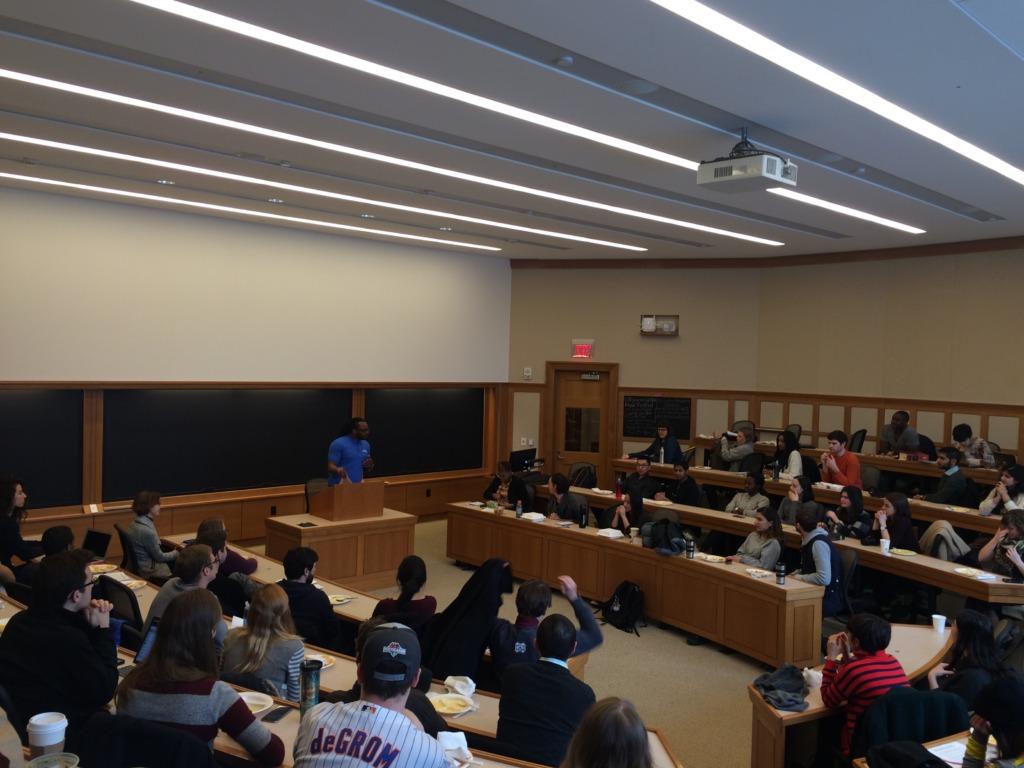 Poet Ambassador Phil speaks at Harvard Law School