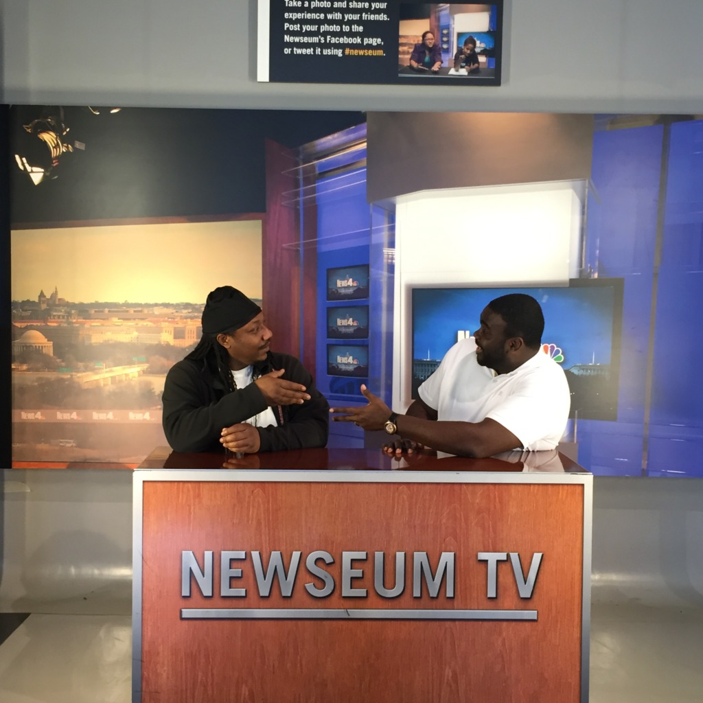 Lawrence and Marcus at the Newseum