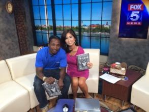Terrell with Fox5 host Annie Yu