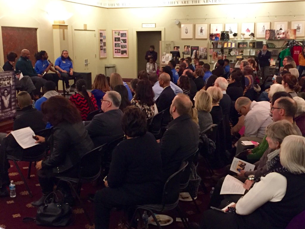 "The sold out crowd at ""We Can Be the Change"""