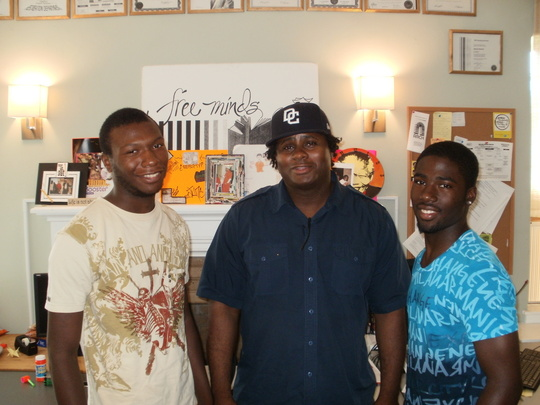 Brian (center) with Reentry Support members