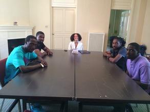 Nadjedja Chapoteau's life-coaching session