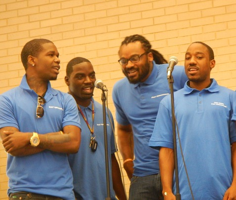 Poet Ambassadors perform at Our City Festival