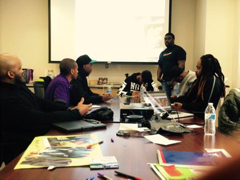 Mr. Bullock leading an entrepreneurship workshop