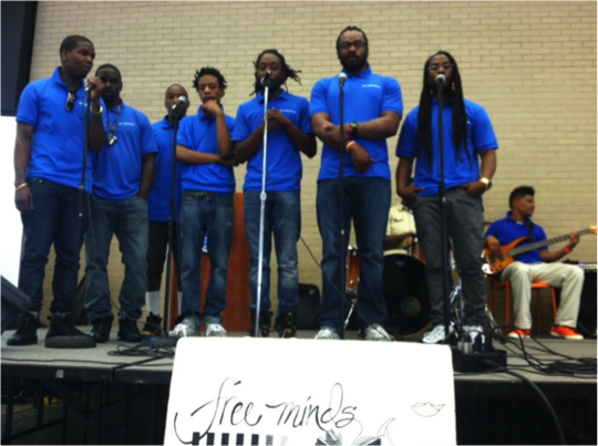Poet Ambassadors performing at Our City Festival