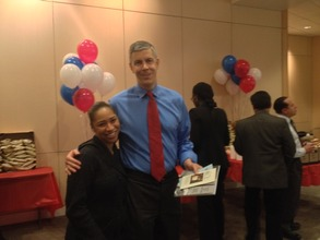 Alisha meets Secretary of Education Arne Duncan!