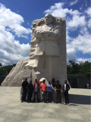 Free Minds members at the MLK Memorial