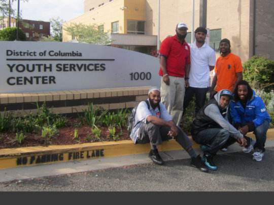 Free Minds members doing community outreach