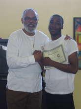 Lonte recieves Life Skills Certificate