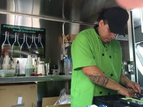 Wilbert at his new food truck job